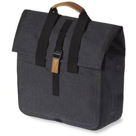 Basil Urban Dry Luggage Pannier Shopper 25l, charcoal melee